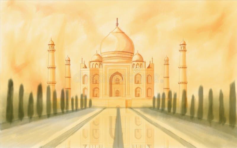印度mahal taj 皇族释放例证