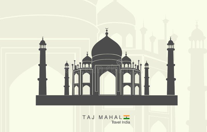 印度mahal taj 库存例证