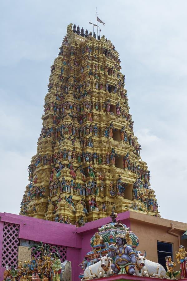 印度matale寺庙 库存照片
