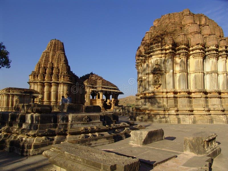 印度nagda拉贾斯坦寺庙 库存照片