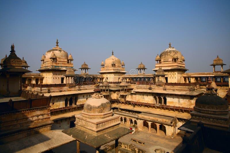 印度orchha宫殿 库存照片