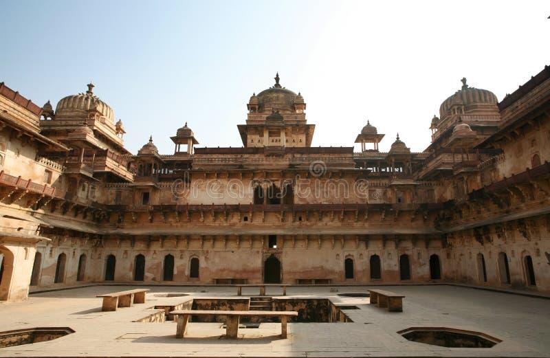 印度orchha宫殿 图库摄影
