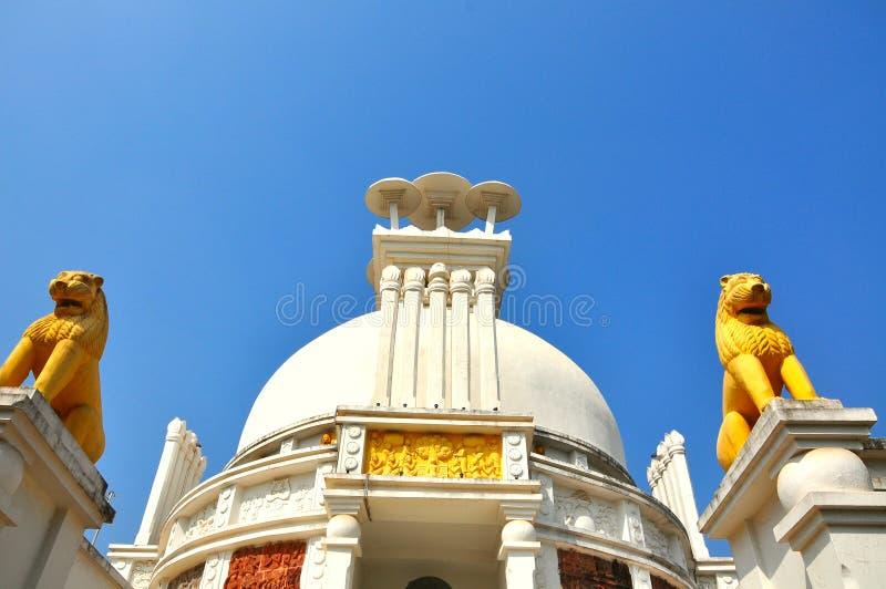 印度orissa和平寺庙 库存图片
