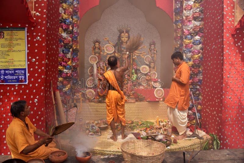 印度s黏土神象杜尔加节日 免版税库存照片
