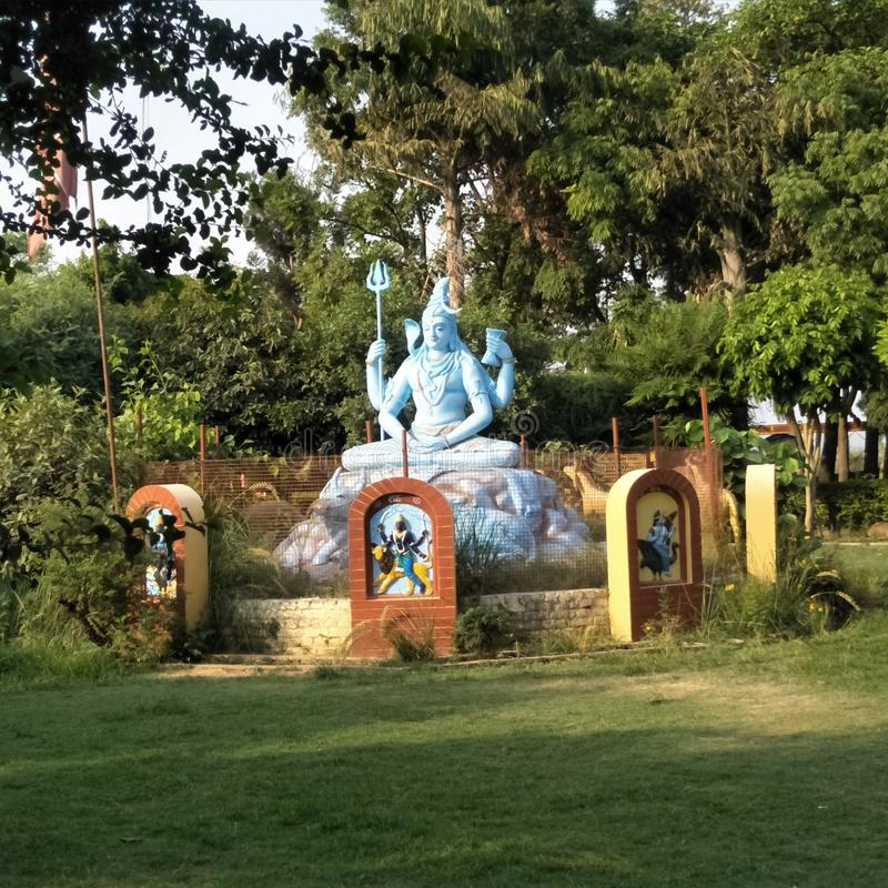 印度shiv Sanker bhole nath的神 图库摄影