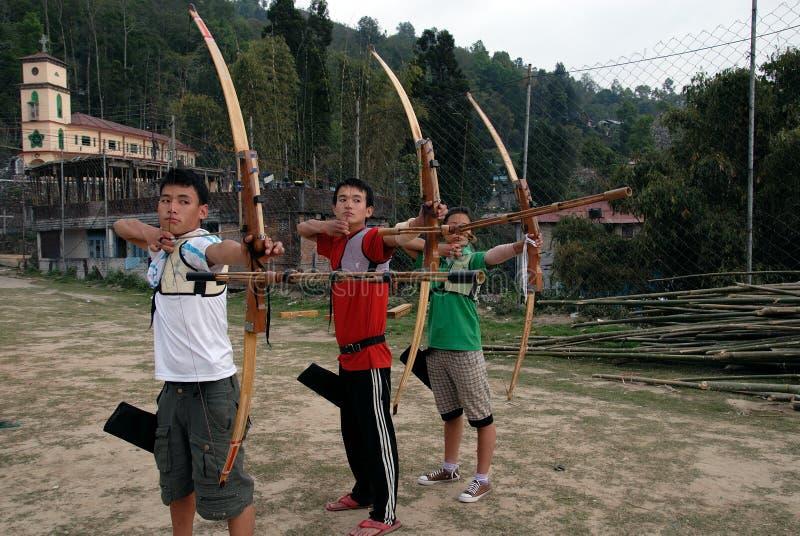 印第安体育运动 库存图片