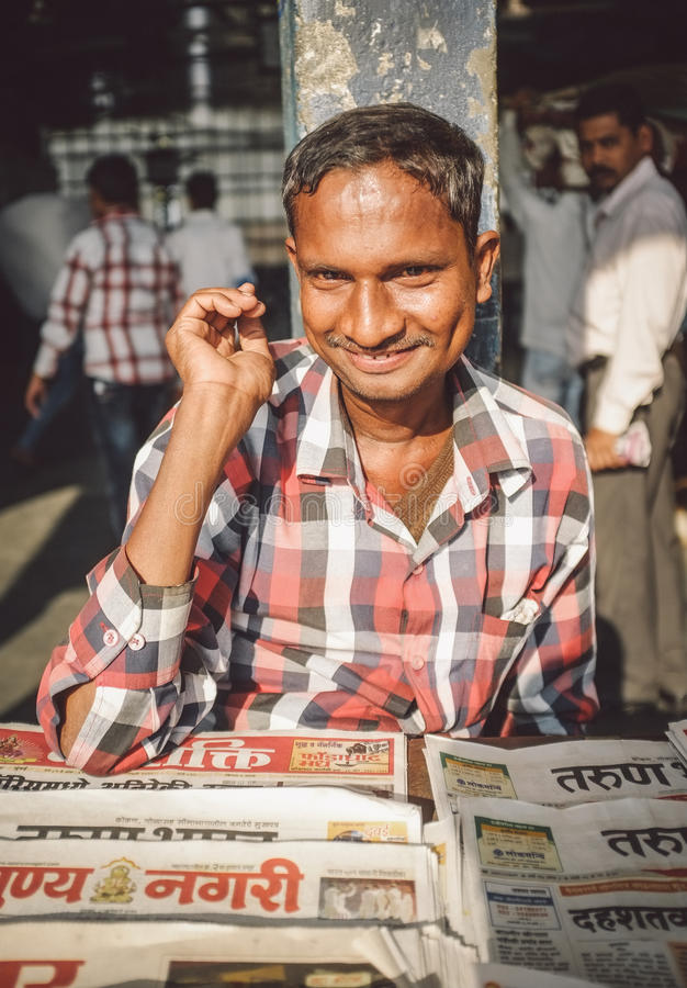 印第安供营商 免版税库存图片