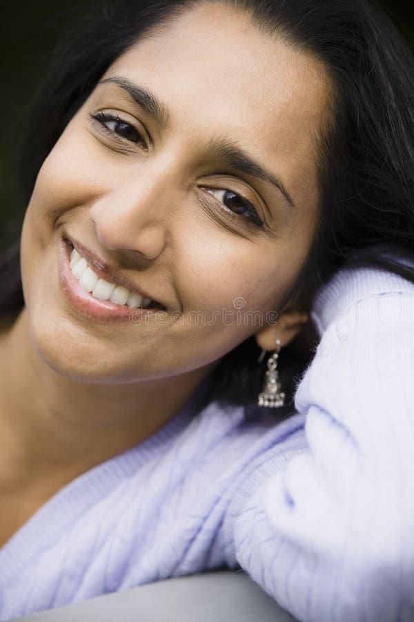 印第安俏丽的妇女 图库摄影