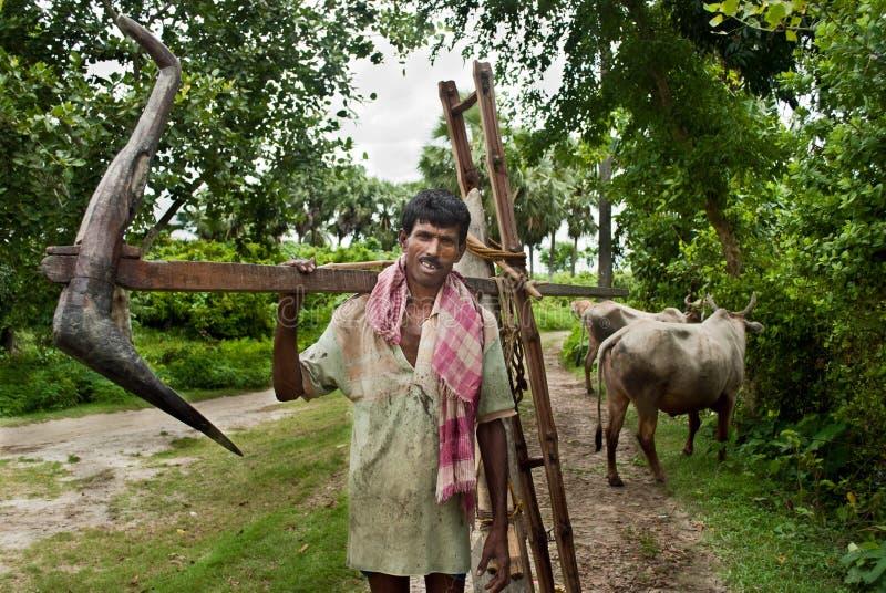 印第安农夫 免版税库存图片