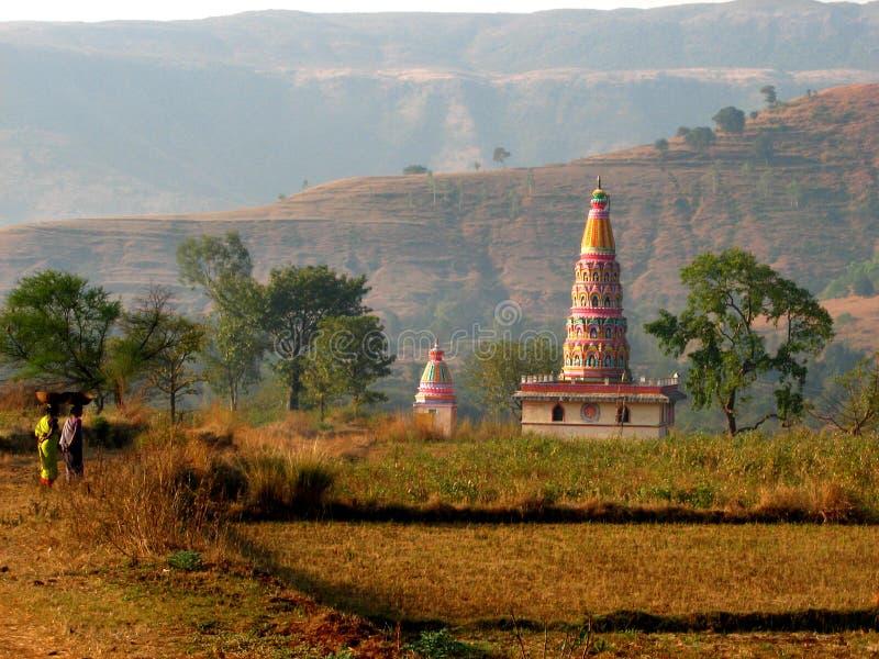 印第安农村寺庙 免版税图库摄影