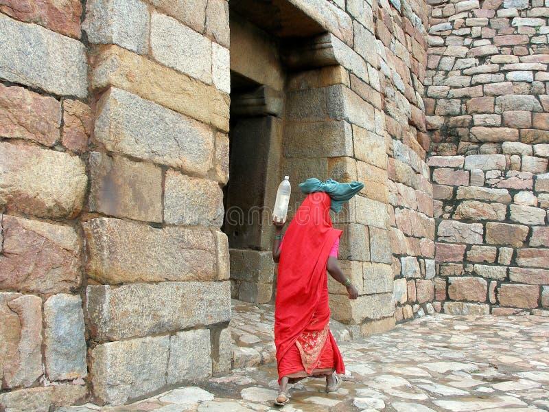 印第安农民工作者 免版税库存图片