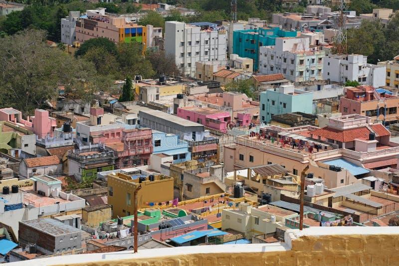 印第安南部市的鸟瞰图 图库摄影