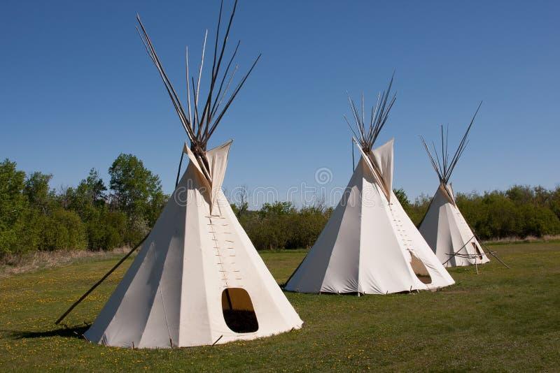 印第安圆锥形帐蓬 图库摄影