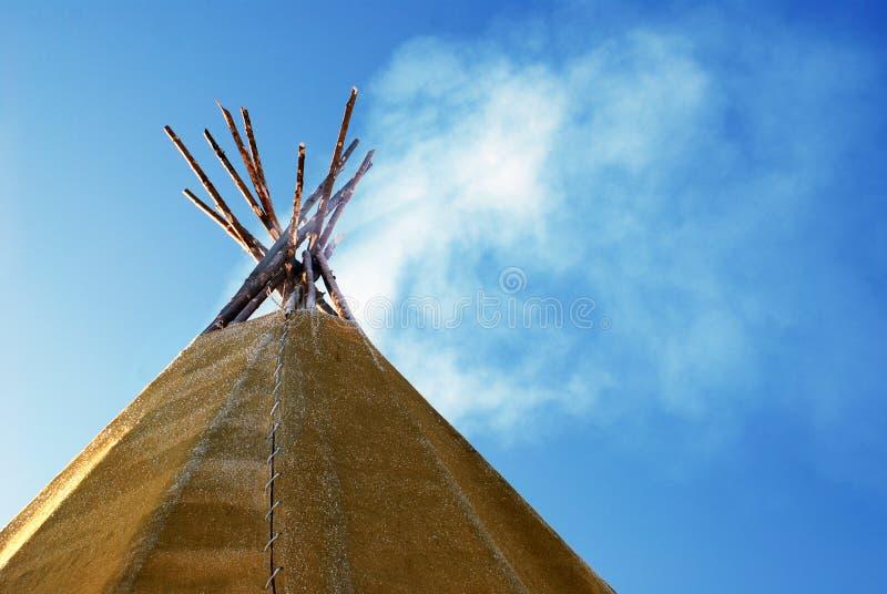 印第安圆锥形帐蓬 库存图片