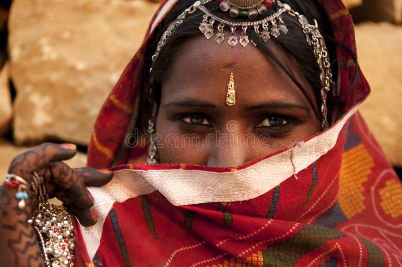 印第安妇女 免版税图库摄影