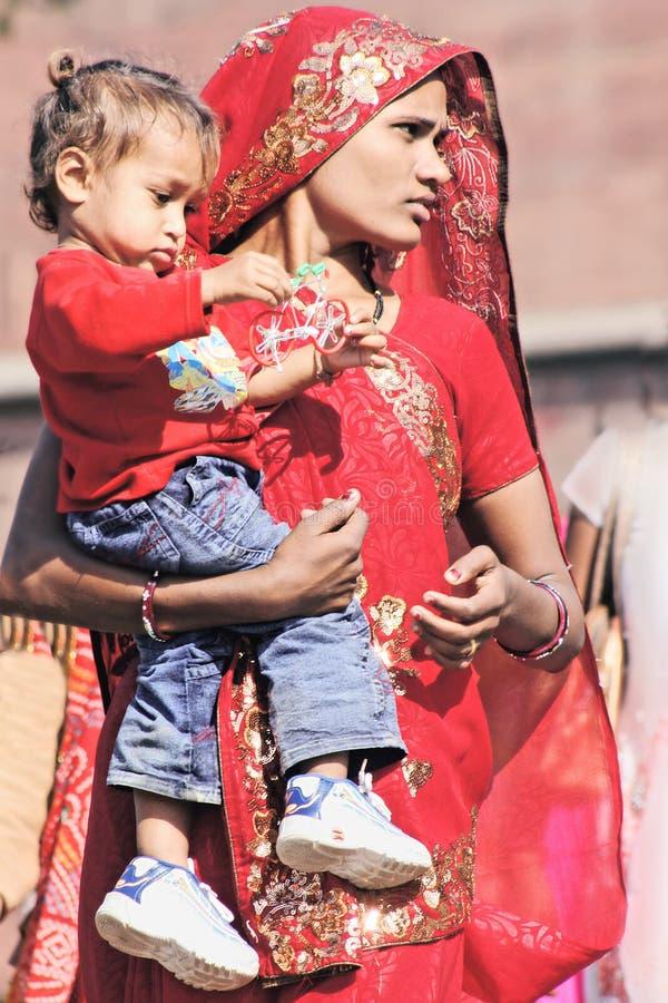 印第安妇女 库存图片