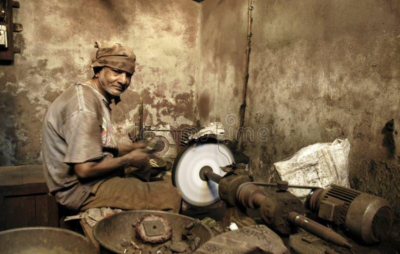印第安工作者 免版税库存照片