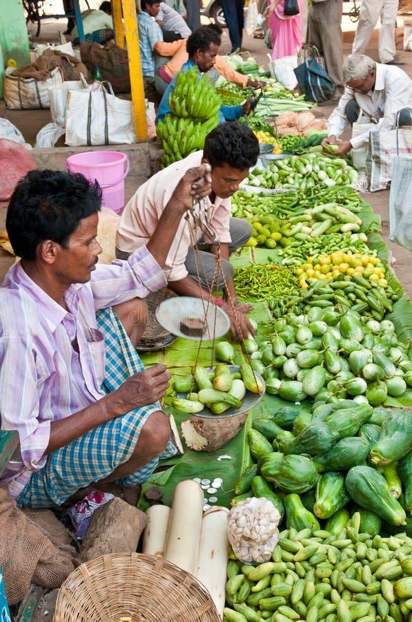 印第安市场蔬菜 库存照片