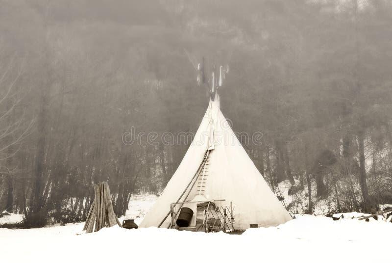 印第安帐篷 免版税库存照片