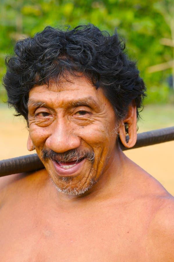 印第安微笑 库存照片