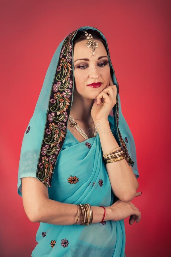 印第安成熟妇女 库存照片