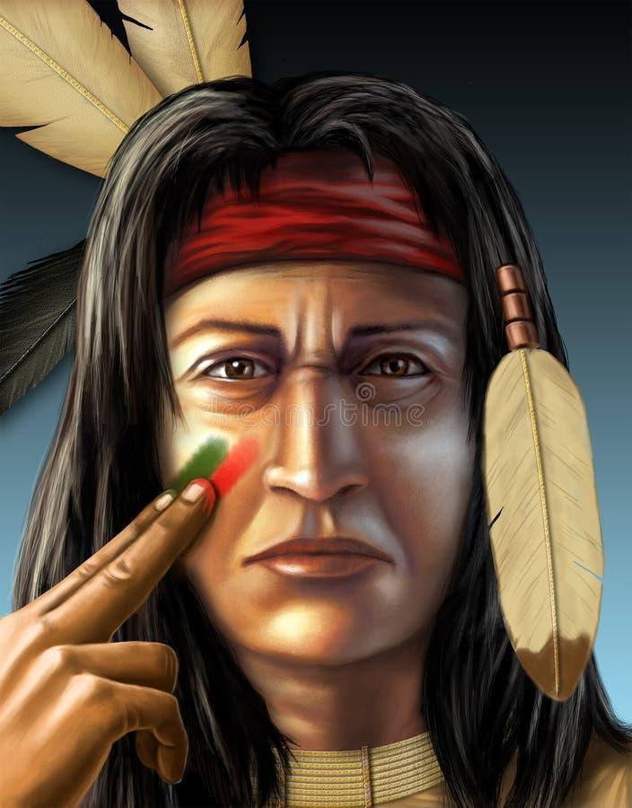 印第安战士 库存例证