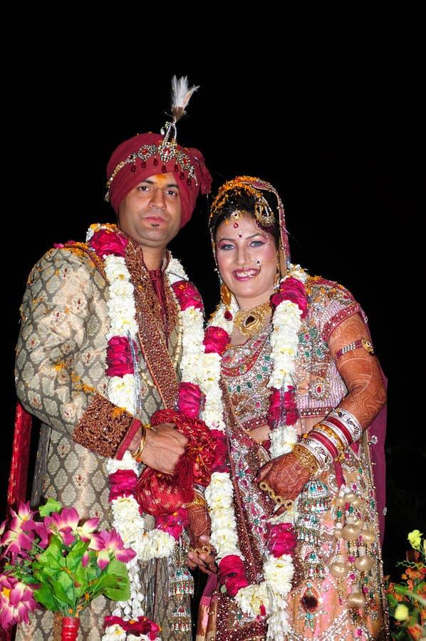 印第安新娘和新郎 库存照片