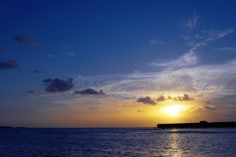印第安早晨海洋 库存照片
