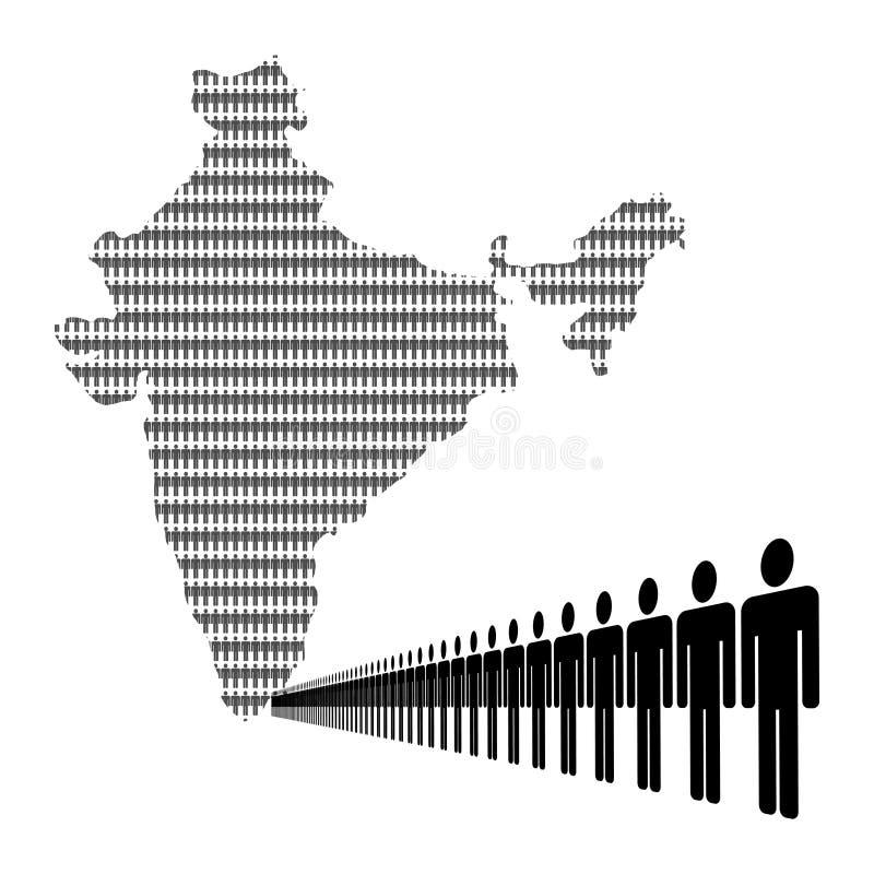 印第安映射劳动力 库存例证