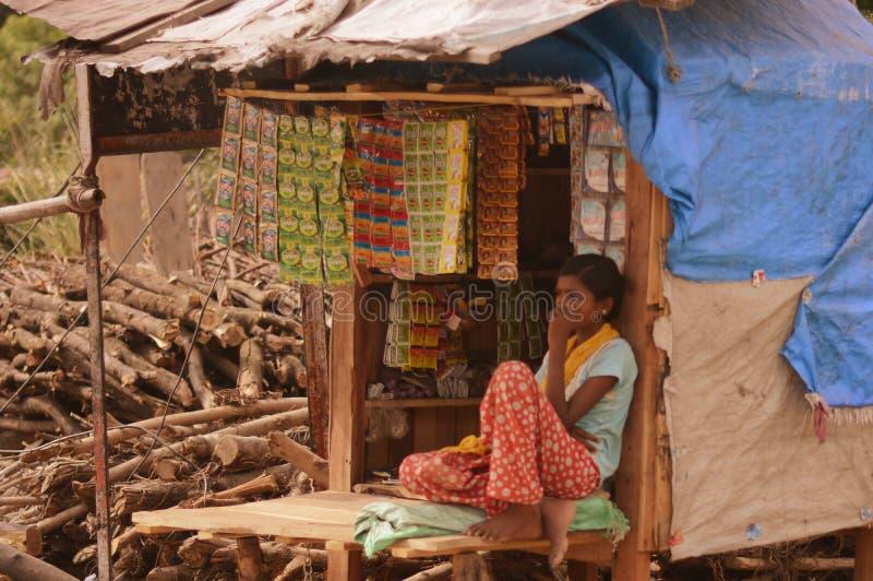 印第安村庄 免版税库存图片