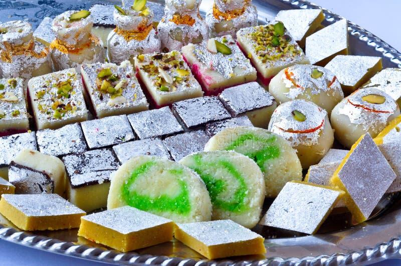 印第安甜点- Mithai 库存照片