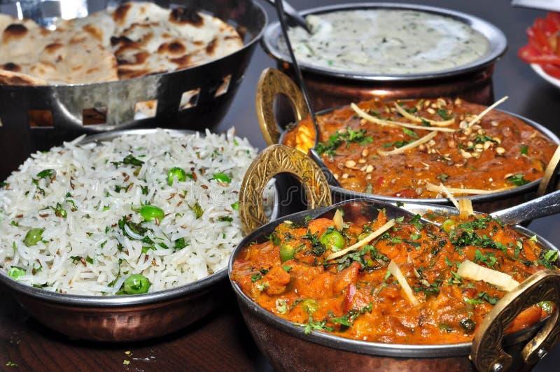 印第安素食膳食 免版税库存照片