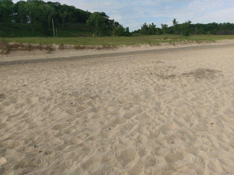 印第安纳沙丘Kemil海滩 图库摄影
