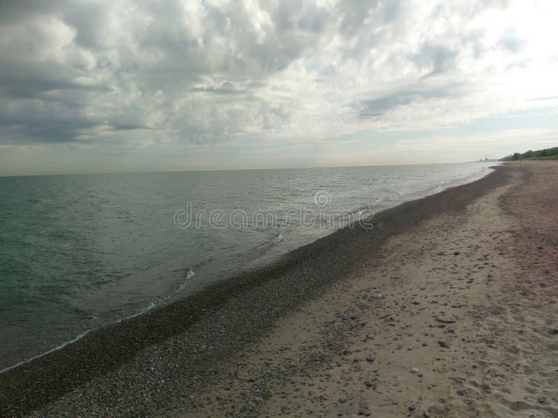 印第安纳沙丘Kemil海滩 免版税库存图片