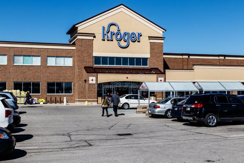 印第安纳波利斯-大约2018年3月:Kroger超级市场 Kroger Co 是世界` s最大的杂货零售商之一III 库存照片
