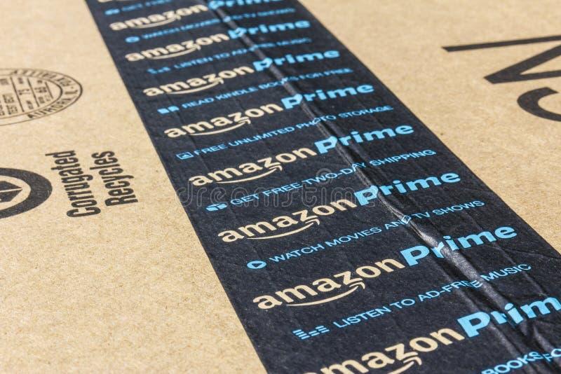 印第安纳波利斯-大约2016年9月:亚马逊最初小包包裹 改良 com是一个首要的网上零售商v 免版税库存图片