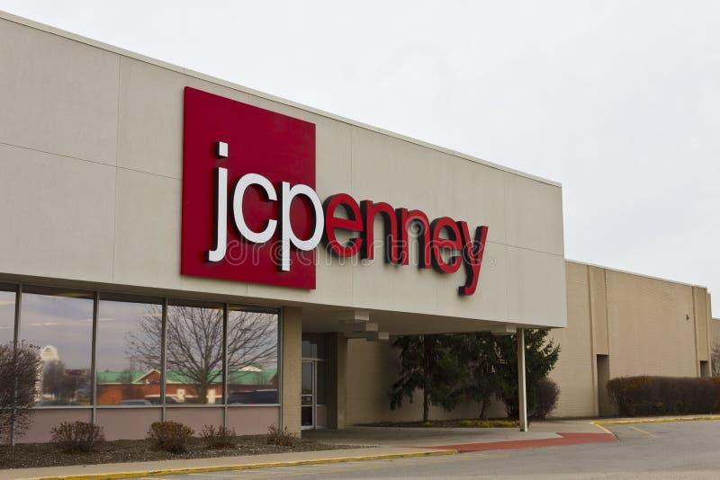 印第安纳波利斯-大约2015年12月:JC Penney零售购物中心地点 免版税库存照片