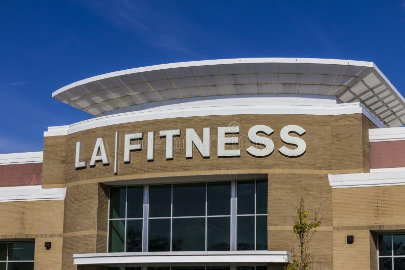 印第安纳波利斯-大约2016年11月:LA健身健身俱乐部 LA健身是一个私有的健康链子我 免版税图库摄影