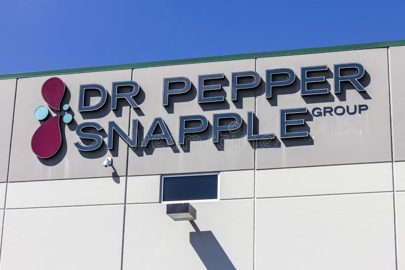 印第安纳波利斯-大约2016年9月:Pepper Snapple Group博士装瓶厂我 库存照片