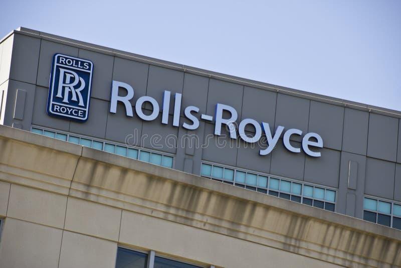 印第安纳波利斯-大约2015年10月:Rolls-Royce Corporation,印第安纳波利斯 免版税库存图片