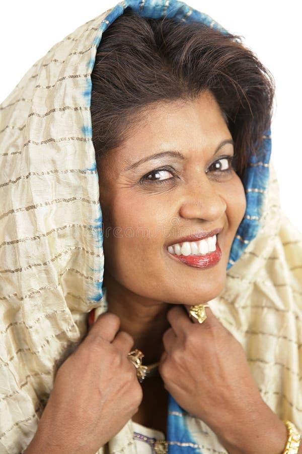 印第安纵向传统妇女 免版税库存照片