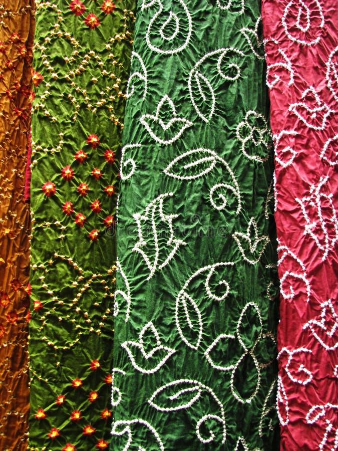 印第安纺织品,特写镜头 免版税库存照片
