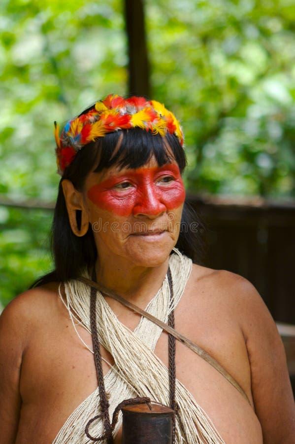 印第安老妇人 免版税库存照片