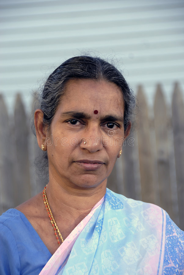 印第安老妇人 免版税库存图片