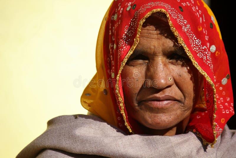 印第安老妇人 库存照片