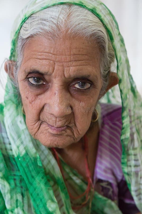 印第安老妇人 免版税图库摄影