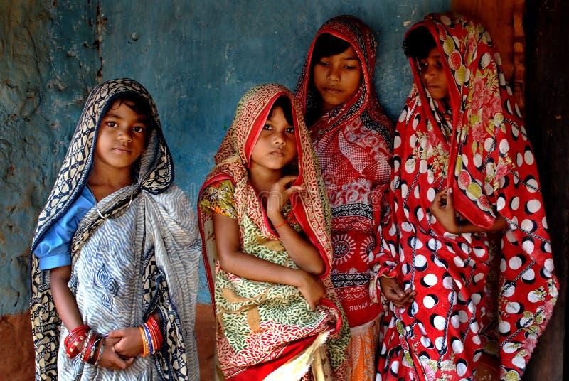 印第安莎丽服 免版税库存照片