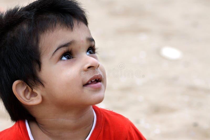 印第安语的男孩一点 免版税库存图片