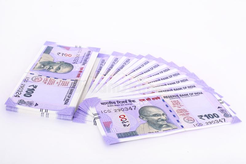 印第安货币附注 免版税库存照片