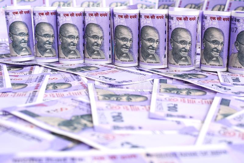 印第安货币附注 库存图片